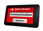 Search for communication — Stock Photo