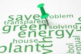 Green energy word cloud — Stock Photo