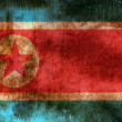 North Korea grunge flag — 图库照片