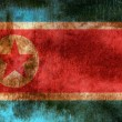 Bandeira do grunge Coreia do Norte — Foto Stock
