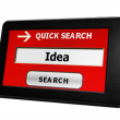 Search for idea online — Stock Photo #25571991