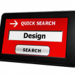Search for design online — Stock Photo