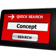 Search for concept online — Stock Photo