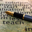 Fountain pen and teach concept — Stockfoto