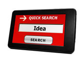 Search for idea online — Stock Photo