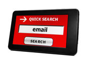 Search for e-mail — Stock Photo