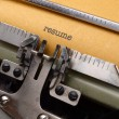Resume on typewriter — Stock Photo