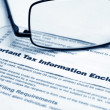 Tax information letter — Stock Photo