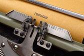 Reprendre sur machine à écrire — Photo