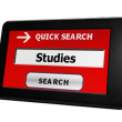 Search for online studies — Stock Photo