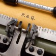 F.A.Q on typewriter — Stock Photo #25742715