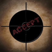Accept target — Stock Photo