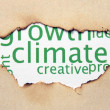 Climate text on paper hole — Stock Photo