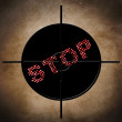 Stop target concept — Stock Photo