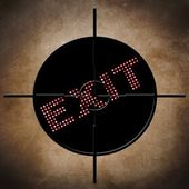 Exit target concept — Stock Photo