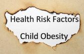 Health risk factors - child obesity — Stock Photo