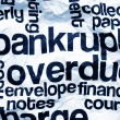 Stock Photo: Bankrupt overdue concept