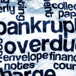 Bankrupt overdue concept — Stock Photo