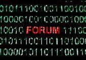 Forum concept — Stock Photo