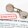 Stock Photo: Assignment of contract