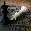 Chess and learn concept — Stock Photo