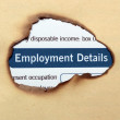 Employment details — Stock Photo