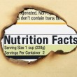 Stock Photo: Nutrition facts