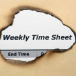 Stock Photo: Weekly time sheet