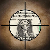 Dollar target concept — Stock Photo