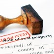 Sale of real property — Stock Photo
