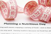 Planning a nutrition day — Stock Photo
