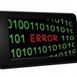 Error on Pc tablet — Stockfoto