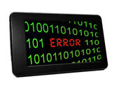 Error on Pc tablet — Stock Photo