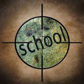 Cel szkoła — Zdjęcie stockowe