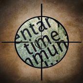 Time target — Stock Photo
