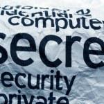 Computer secret security — Stock Photo