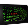 Steal text on pc tablet — Stock Photo