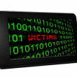 Victims text on pc tablet — Stock Photo #27929369