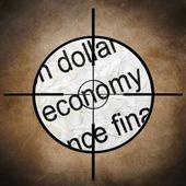 Economy target — Stock Photo