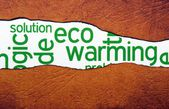 Eco warming — Stock Photo