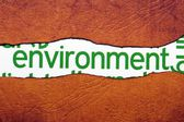 Environment text on torn paper — Stock Photo