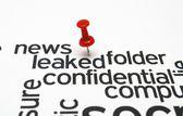Confidential folder — Stock Photo