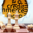 Credit and chess concept — Stock Photo