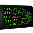FIrewall on pc tablet — Foto Stock