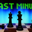 Foto Stock: Last minute and chess concept