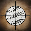 Recession target concept — Stock Photo