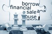 Borrow financial sale chess concept — Stockfoto