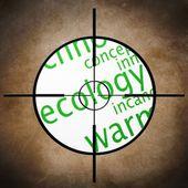 Eco target — Stock Photo