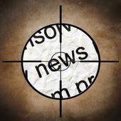 News target — Stock Photo