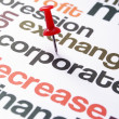 Corporate decrease concept — Stock Photo